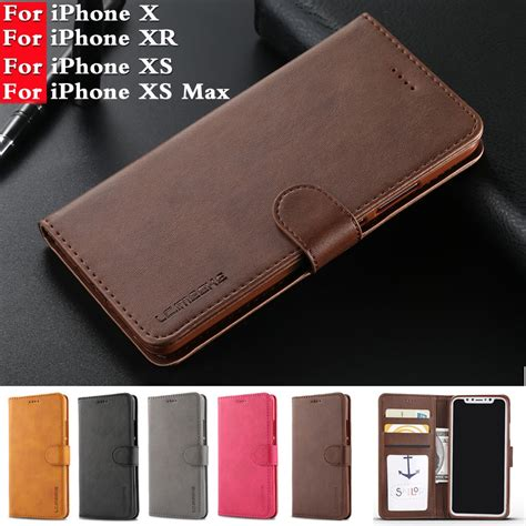 For Coque iPhone XS MAX Case Leather Wallet Phone Case