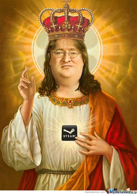 Jesus Gabe Newell by Dragzore - Meme Center