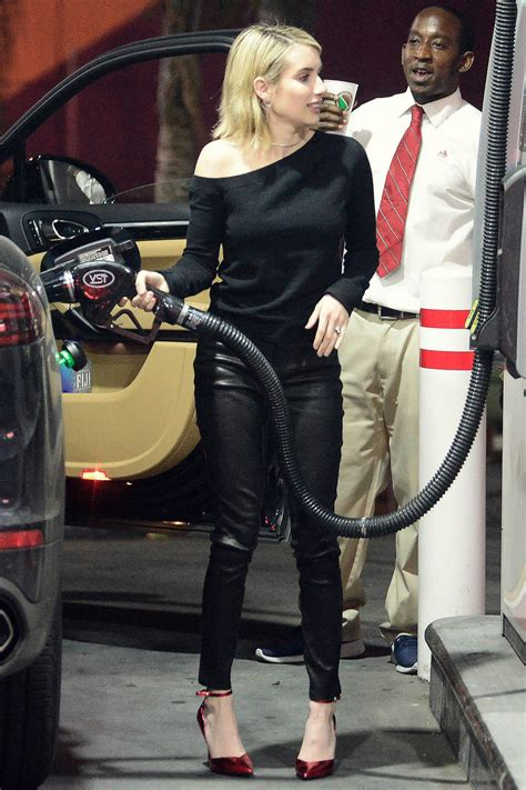 Emma Roberts heading out for girls night - Leather Celebrities