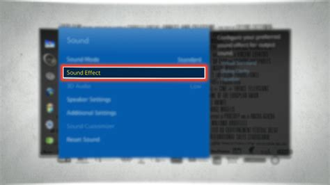 How to use Sound Effects in Samsung Smart TV? | Samsung