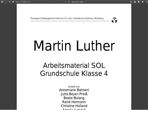 Luther – Material