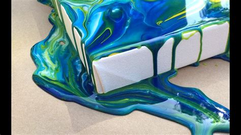 Acrylic Pouring Medium Demo on Gallery Depth Stretched