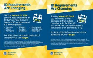 Traveling Notice: Real ID Act Becomes Effective Jan