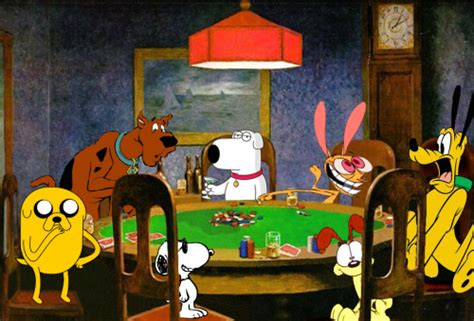 dogs playing poker on Tumblr