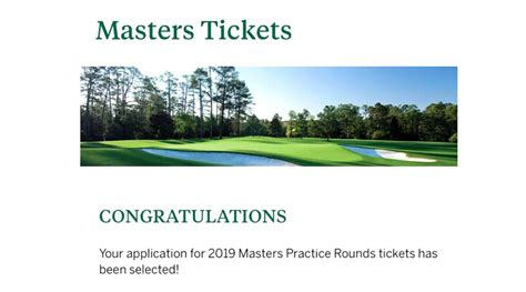 Masters lottery ticket winners announced, leading to both