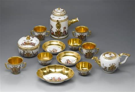 Parts of a coffee, tea and chocolate service with