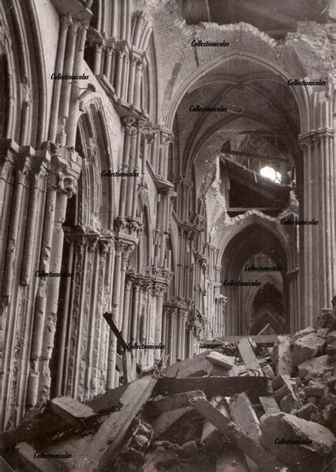 Rouen 1944 Cathedral after the bombing | Cathédrale, Rouen