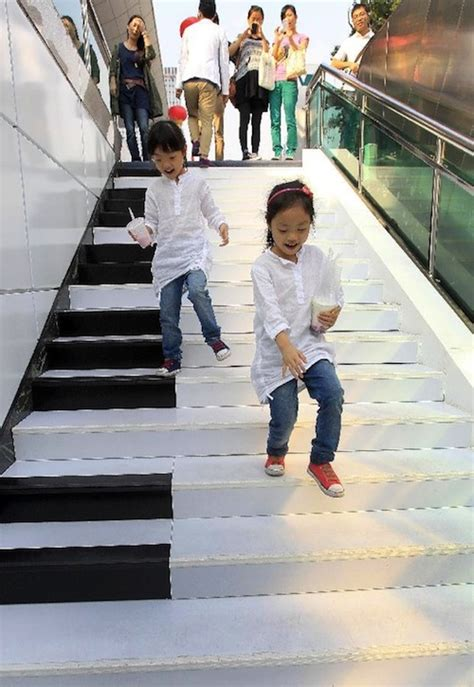 In China, 'Piano Staircase' Lets You Make Music By Walking