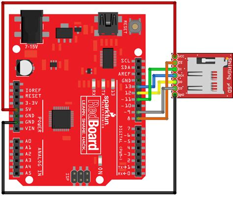 MicroSD Breakout With Level Shifter Hookup Guide - learn