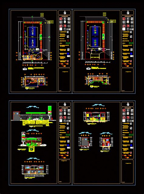 Pemex gas station in AutoCAD | Download CAD free (912