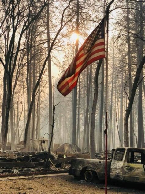 American Flag Survives California Wildfire - AMAC - The