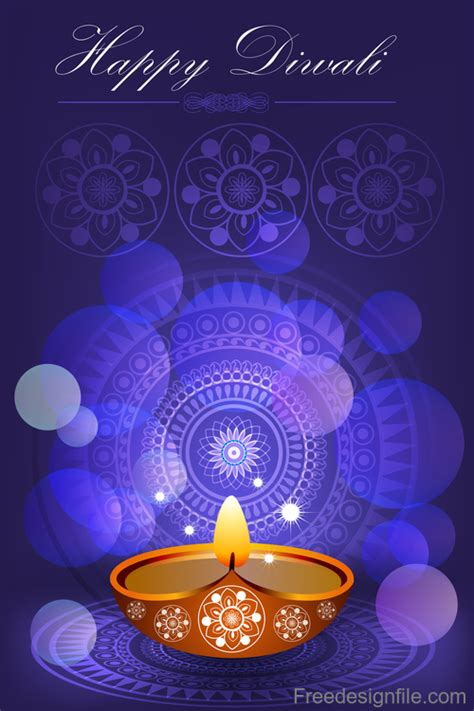 Happy Diwali festival poster with flyer template vector 01