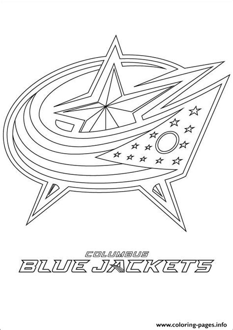 Columbus Blue Jackets Logo Nhl Hockey Sport Coloring Pages