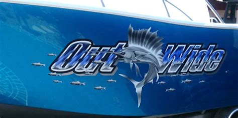 Out Wide – Custom Boat Graphics - Boat Names Australia