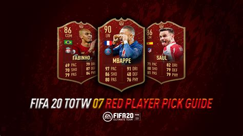 FIFA 20 Ultimate Team: TOTW 7 Red Player Pick Guide